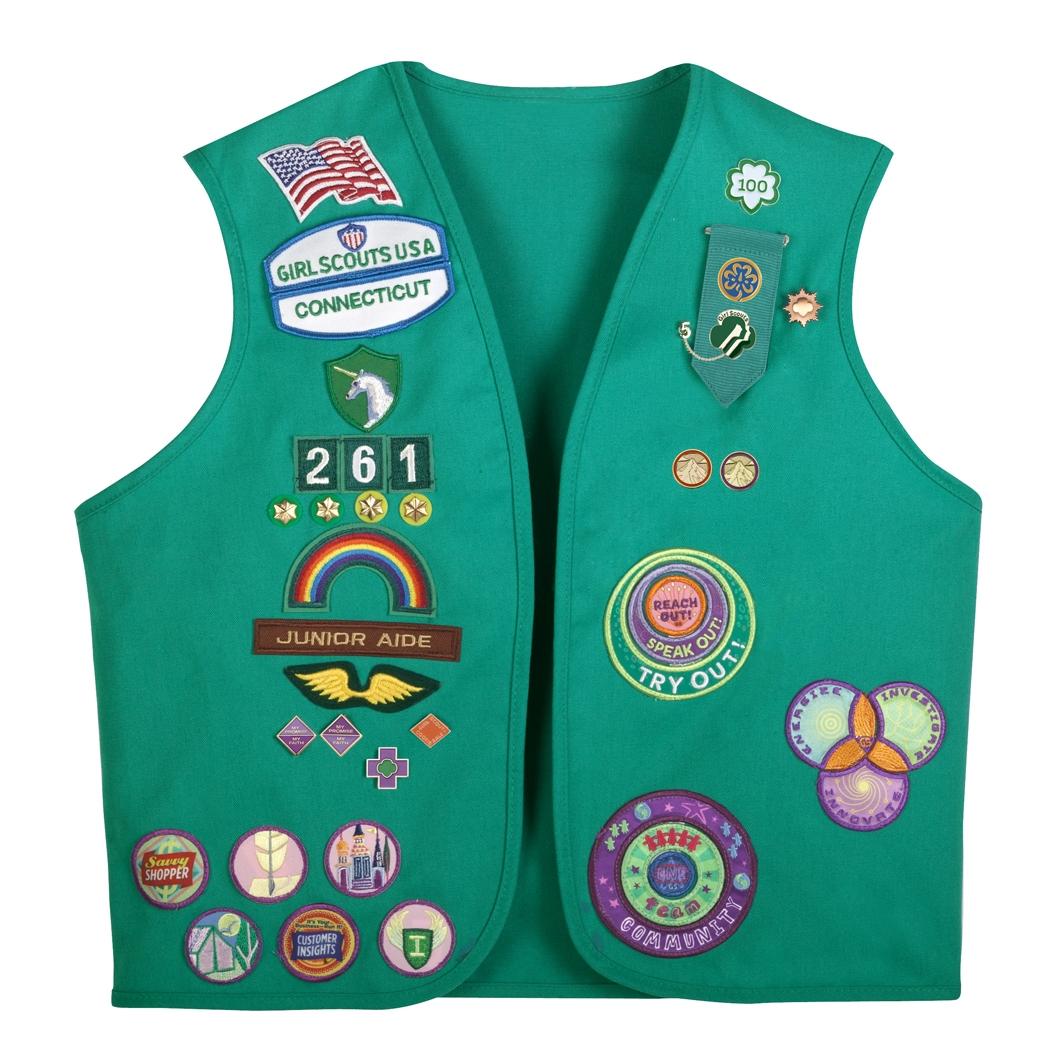 ann brackett donates her vintage girl scout uniform to the