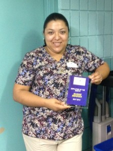 Maggie Mendoza is Plymouth Harbor's Employee of the Month.